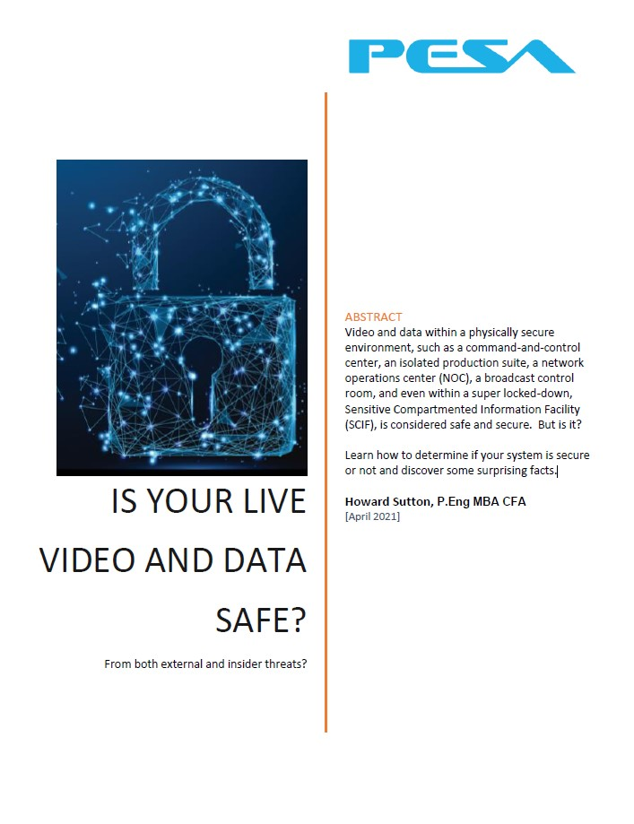 encrypted live video and data for secure distribution